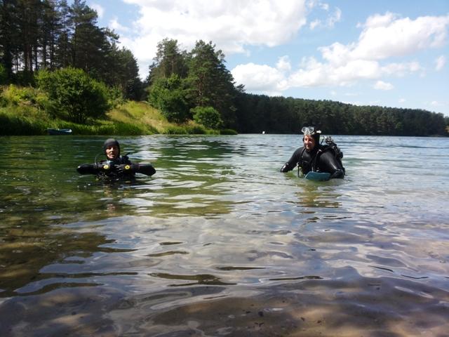 nurkowanie w jeziorze Staw