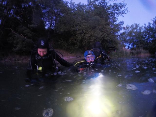 nurkowanie nocne z dziećmi