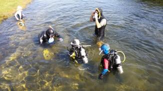 nurkowanie dzieci w rzece