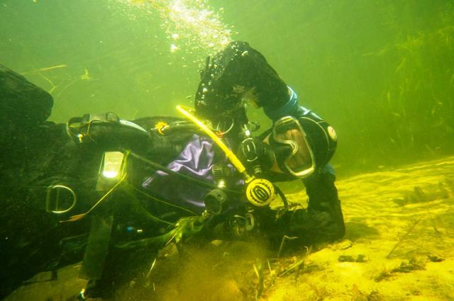 pozowanie pod wodą