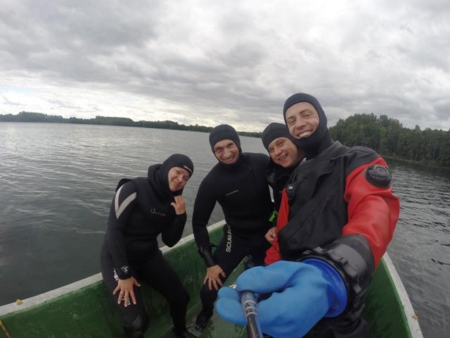 selfi na łodzi